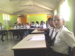 A picture of some of the schools participating in the rotary quizz.